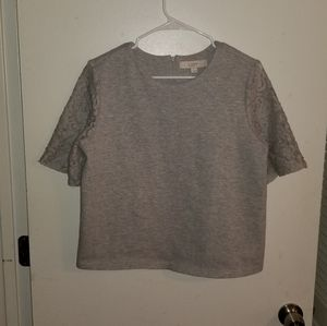 Loft blouse with lace sleeves size large (L19)